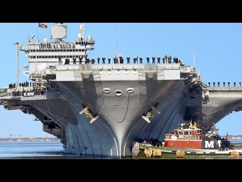 US Massive Aircraft-Carrier Escorted and Protected by Large Amount of US Navy Ships