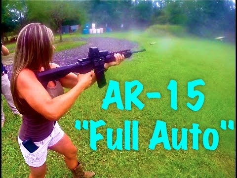"SLIDE FIRE/BUMP STOCK! GIRL SHOOTING ""FULL AUTO"" AR-15,, GIRLS shooting GUNS!!"