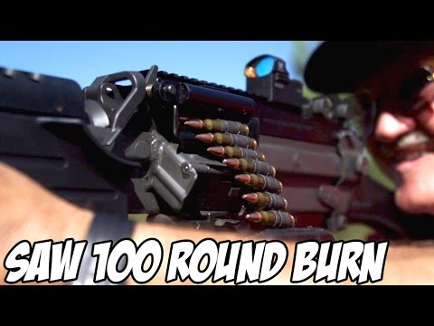 100 ROUND SAW RAPID FIRE BURN! [FN M249S]