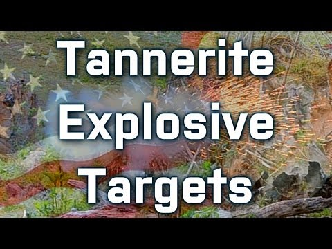 Adventures with Tannerite explosive shooting targets! (1/2 lb. jars, 1080p with slow motion)