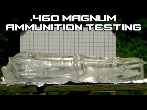 460 MAGNUM ammunition ballistic testing in SlowMo! (60P)