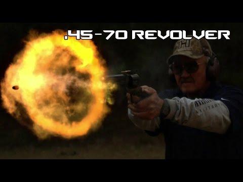 MASSIVE .45-70 HAND CANNON REVOLVER! (4K UHD)
