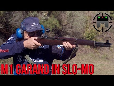 "M1 Garand in High Speed (Slow-mo) Rapid fire + Clip ""ping"" with Jerry Miculek"