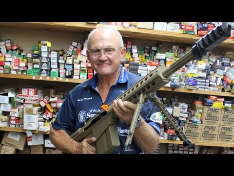"BARRETT 50 CAL IMPOSSIBLE ""V-DRILL"" with FASTEST shooter, Jerry Miculek! M107 M82"
