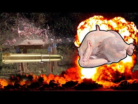 Carving a Turkey with a .460 Magnum Elephant rifle and a 20,000FPS high speed camera! Jerry Miculek!