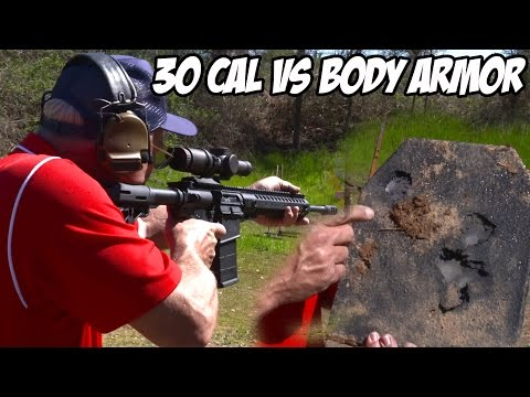 AR-10 30 cal extreme rapid fire vs. body armor! (SUPER SlowMo)
