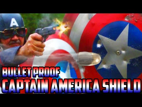 REAL BULLET PROOF CAPTAIN AMERICA SHIELD vs. LIVE AMMO! | (SUPER SlowMo) Can you protect yourself?