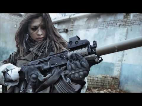 Women military ☢ BAD TO THE BONE ♫ Female remix Girls With Guns Woman Army Uniforms HQ