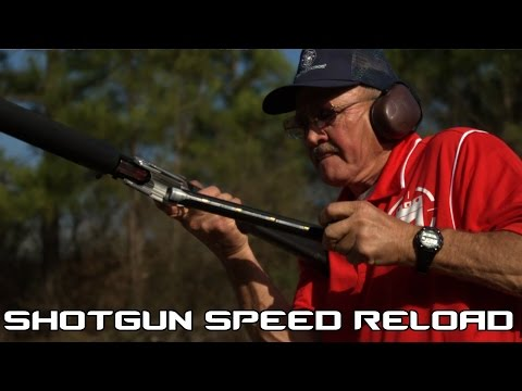 Shotgun Speed Reloading! 3.5 seconds for 8 shots with reload in SlowMo (60P)