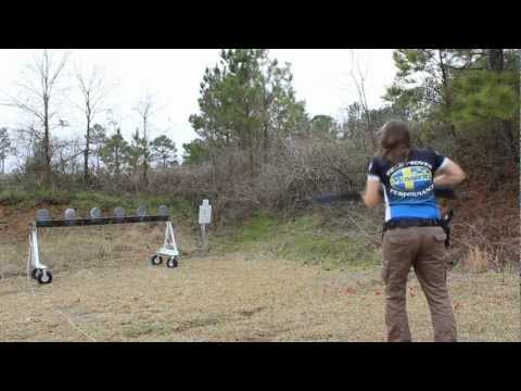 How to perform a strong handed tactical shotgun reload with Lena Miculek
