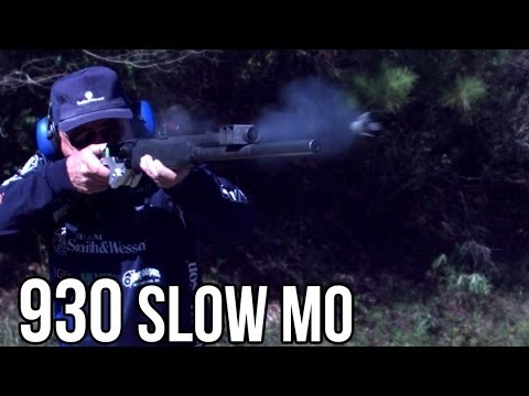 Mossberg 930 shotgun in Slow Motion! 5 shots in a HALF SECOND with Jerry Miculek!