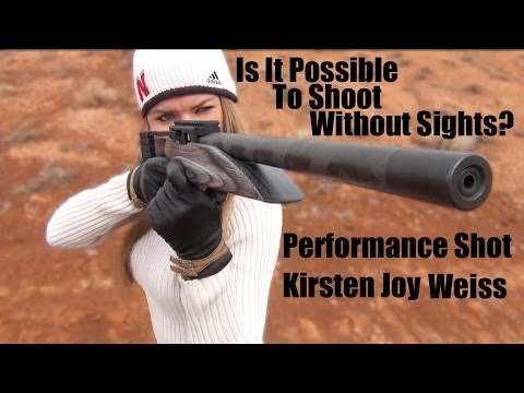 Is It Possible To Shoot Accurately Without Sights On Your Gun? – Trick Shot -Kirsten Joy Weiss
