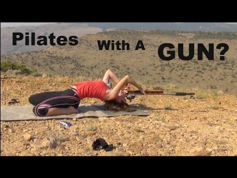 Gun Pilates?? Trick Shot! | Shooting | Flexibility | Kirsten Joy Weiss