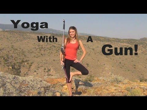 Gun Yoga! Trick Shot- Balance | Kirsten Joy Weiss