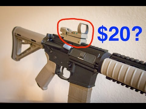 $20 Reflex Sight On An AR15 – Does It Work?