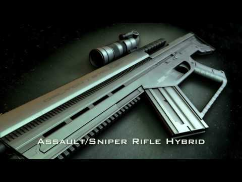NEW Hi-Tech Assault/Sniper Rifle/Machine Gun (3D Gun Animation)