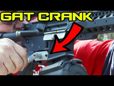 Turning your AR-15 into a mini Gatling Gun! (GAT CRANK) | Super SlowMo 4K
