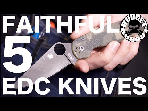 "The ""Faithful 5"" — My Most Carried Everyday Carry Folding Pocket Knives 