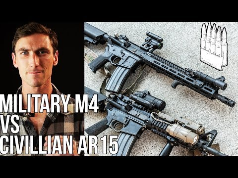 Military M4 vs High End Civilian AR15