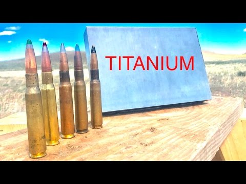 HOW STRONG IS TITANIUM? 50CAL VS TITANIUM