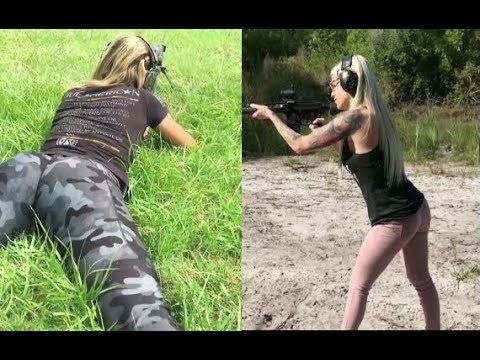 [NEW]Best girls Shooting Compiletion | Gun Skills & weapons Shots