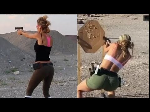 [NEW]Best Weapons Skills & Shots | Amazing Girls Use Gun 2018