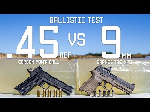 45cal Vs 9mm Ballistic Test | Ammo Comparison | Tactical Rifleman