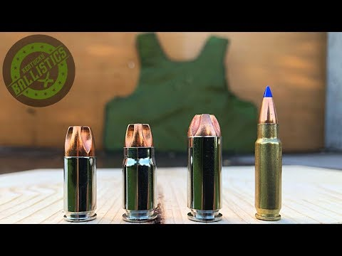 9mm vs .357 Sig vs 10mm vs 5.7x28mm vs Body Armor