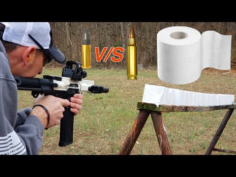 22LR VS 5.7×28 – HOW MANY TOILET PAPER ROLLS WILL THEY GO THROUGH?