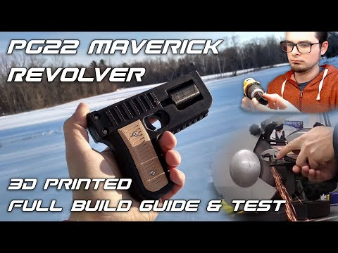 PG22 Maverick Revolver – How I Built my own 3D Printed Gun Design
