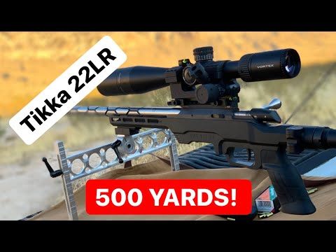 22LR at 500 Yards! Tikka T1x Ivey Adjustable Scope Base test