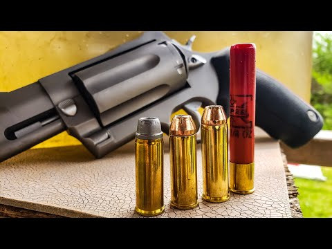 45colt vs 454 casull vs 410 – Ballistics Gel – Taurus Raging Judge Magnum