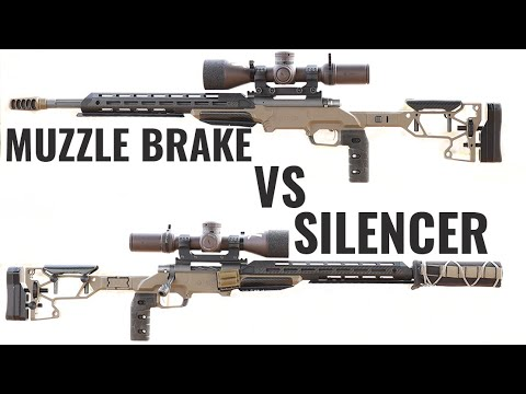 Silencer vs Muzzle Brake (Which Is Better for Precision Rifle)