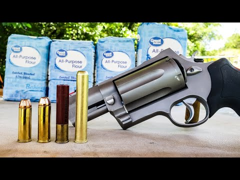 5colt vs 454 casull vs 410 – FLOUR – Taurus Raging Judge Magnum