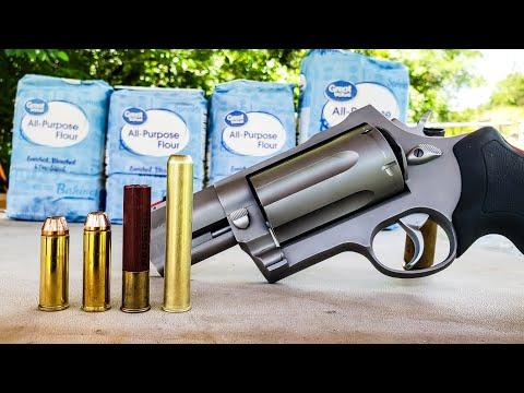 5colt vs 454 casull vs 410 – FLOUR – Taurus Raging Judge Magnum