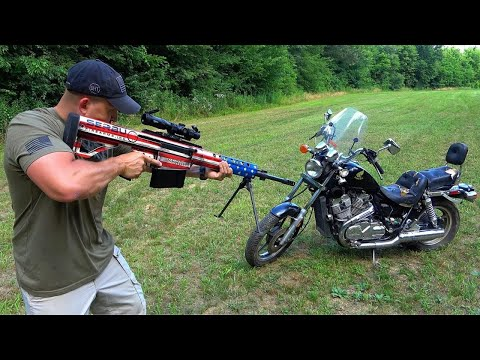 50 Cal vs Motorcycle