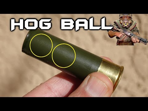HOG BALL 12ga round – 2 .60 cal balls – Excellent performance