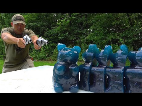 Hand Cannons vs GIANT Gummy Bears